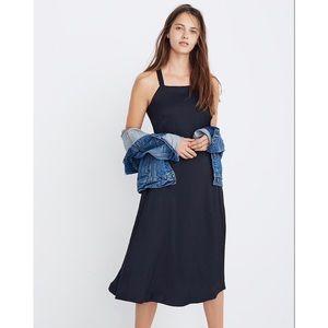 Madewell Cross-Back Midi Dress
